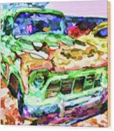 An Old Pickup Truck 1 Wood Print