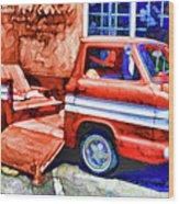An Old Pickup Truck 2 Wood Print