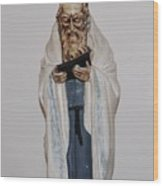 An Old Rabbi Wood Print
