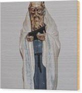 An Old Rabbi Wood Print