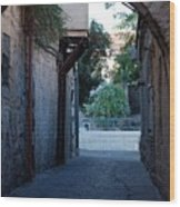 An Old Street In Jerusaem Wood Print