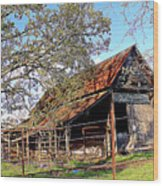 An Old Weathered Barn Wood Print