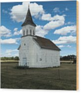 An Old Wooden Church Wood Print