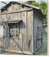 An Old Wooden Shack Wood Print