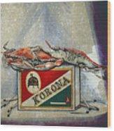 An Old Flame Wood Print