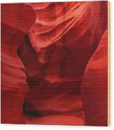 An Orange Chamber Antelope Canyon Wood Print