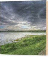 An Ordinary British Sky Wood Print