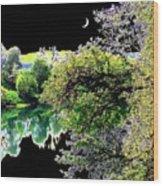 An Umpqua Night Wood Print