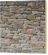 An Uneven Rock/stone/brick Wall Wood Print