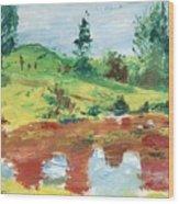 An Upland Meadow Wood Print