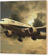 Ana Boeing 773 Ja784a Wood Print