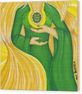 Anahata Heart Chakra Goddess Wood Print