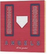 Anaheim Angels Art - Mlb Baseball Wall Print Wood Print