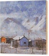 Anaktuvuk - Eskimo Village Wood Print