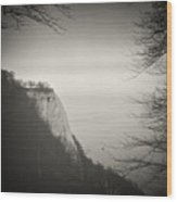 Analog Black And White Photography - Rugen Island - Koenigsstuhl Chalk Cliff Wood Print
