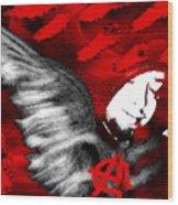 Anarchy Angel Wood Print