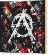 Anarchy Punk Wood Print