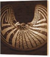 Anasazi Butterfly Pot Wood Print