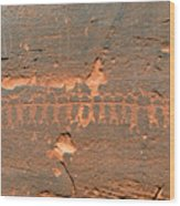 Anasazi Dancers Wood Print
