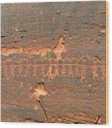 Anasazi Dancers Wood Print