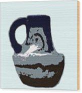 Anasazi Jug Wood Print