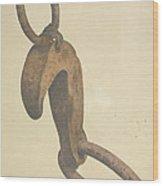 Anchor Trip Hook Wood Print