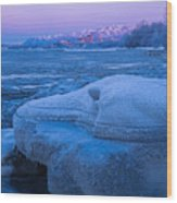 Anchorage Icebergs Wood Print