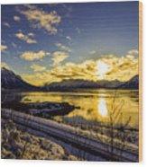 Anchorage Sunrise Wood Print