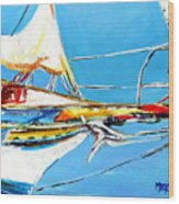 Anchored 2 Wood Print
