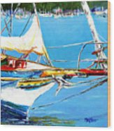 Anchored Wood Print