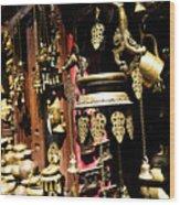 Ancient Antiq In Kathamandu Nepal Wood Print