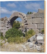 Ancient Bergama Acropolis Ruins Wood Print