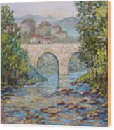 Ancient Bridge Wood Print