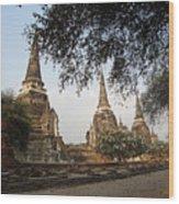 Ancient Buddhist Stupas Wood Print