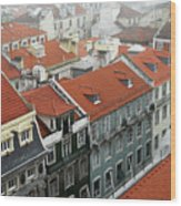Ancient Buildings At Lisbon. Portugal Wood Print