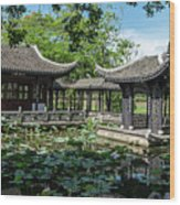 Ancient Chinese Architecture Wood Print