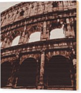 Ancient Colosseum, Rome Wood Print
