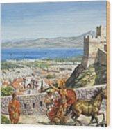 Ancient Corinth Wood Print
