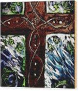 Ancient Cross Wood Print