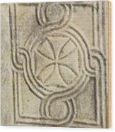 Ancient Cross Pattee Wood Print