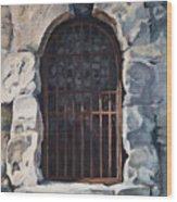 Ancient Door Wood Print