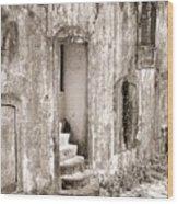 Ancient Door Way Wood Print