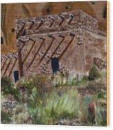 Ancient Dwelling Wood Print