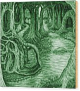 Ancient Forest Wood Print