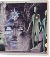 Ancient  Gods Wood Print