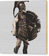 Ancient Greek Hoplite Wood Print