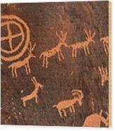 Ancient Indian Petroglyphs Wood Print