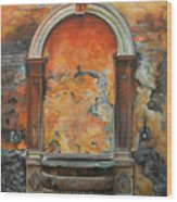 Ancient Italian Fountain Wood Print by Charlotte Blanchard