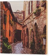Ancient Italian Village Wood Print