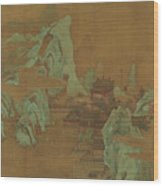 Ancient Landscape Wood Print